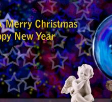 We Wish You A Merry Christmas And A Happy New Year Sticker