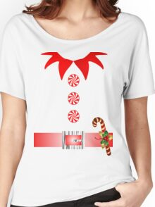 cute cartoon merry christmas elf costume Women's Relaxed Fit T-Shirt