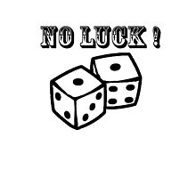 no luck snake eyes Photographic Print
