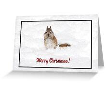 Merry Christmas Chipmunk Greeting Card