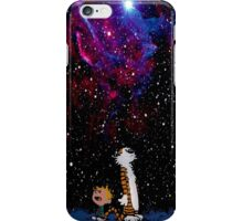 calvin and hobbes waiting christmas iPhone Case/Skin