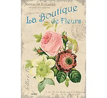 Vintage French Flower Shop 2 Photographic Print