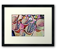 Cups of Color 1 Framed Print