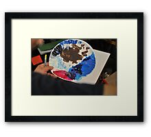 Plate of Colors Framed Print