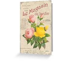 Vintage French Flower Shop 3 Greeting Card