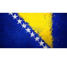 Bosnian Flag - Magnaen Flag Collection 2013 Photographic Print