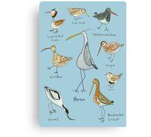 Tidal Estuary Bird Spotters Guide  Canvas Print