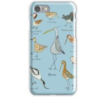 Tidal Estuary Bird Spotters Guide  iPhone Case/Skin