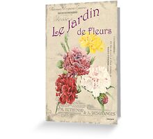 Vintage French Flower Shop 4 Greeting Card
