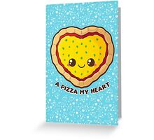 A Pizza My Heart [Blue] Greeting Card