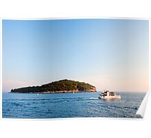Lokrum Island at Sunset Poster