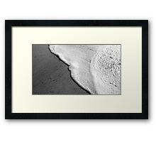 Tranquil Foam Framed Print