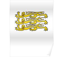 Royal Banner of England, Heraldry, Team, Sport, Three Lions, 3 Lions, History, Blighty, English, British, UK Poster