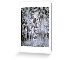 The Lady In White & Red Greeting Card