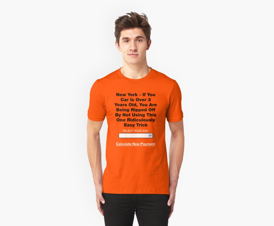 Ridiculous Insurance Ad Turned Shirt (Sans JPG Artifacts) by onefoottsunami