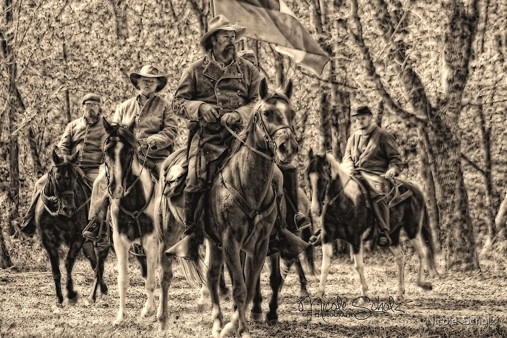 Tennessee Confederate Calvary by Nicole  Scholz