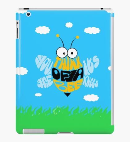 Think of a bee... iPad Case/Skin