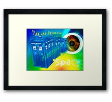 TARDIS Time and Relative Dimension in Space Framed Print