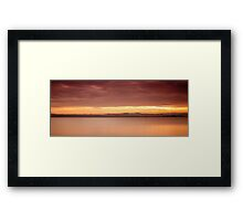 River Forth sunset Framed Print