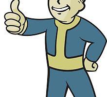 Fallout 4 - Vault Boy by Mooselini
