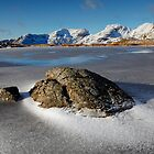 Scafell Massif from a frozen Three Tarns by Martin Lawrence
