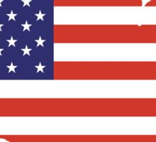 American Flag, Country Outline, America, Americana, Stars & Stripes, USA, Pure & Simple Sticker