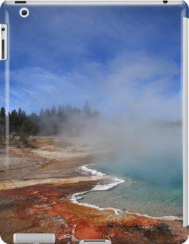 Yellowstone Park Geyser by Frank Romeo