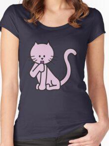 Fat Cat - Tierna Gatita Women's Fitted Scoop T-Shirt