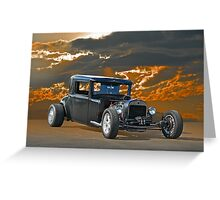 1930 Hudson Hot Rod Coupe Greeting Card