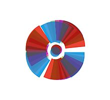 Abstract Colour Wheel Photographic Print
