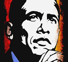 BARACK OBAMA-44TH U.S PRESIDENT (FADED) by OTIS PORRITT