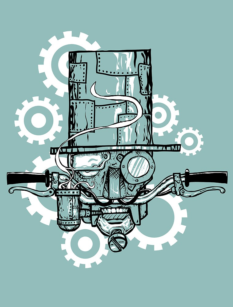 Robot Handlebar Mustache by Jonah Block