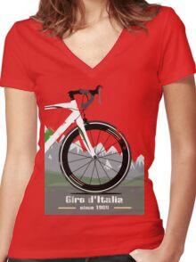 GIRO D'ITALIA BIKE Women's Fitted V-Neck T-Shirt