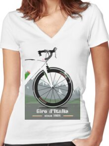GIRO D'ITALIA BIKE Women's Fitted V-Neck T-Shirt
