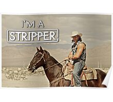 I'm a Stripper - Alexander on Horse Poster