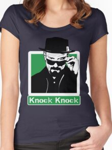 """Knock Knock"" _ Heisenberg Women's Fitted Scoop T-Shirt"