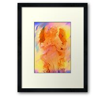 Angel Of Peace Holding Dove by Marie Sharp Framed Print