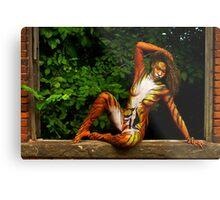 Tigress on her Perch Metal Print