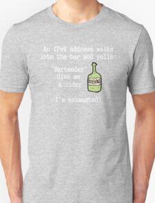 An IPv4 walks into a bar.  T-Shirt