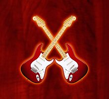 Double Red american fender Stratocaster v2 ipad by goodmusic