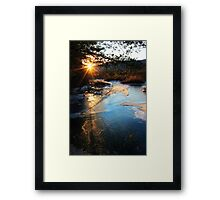 River Ice at SunDown Framed Print