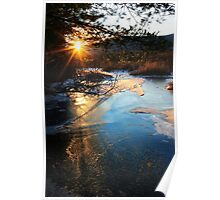River Ice at SunDown Poster