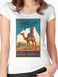 Vintage poster - Australia Women's Fitted Scoop T-Shirt