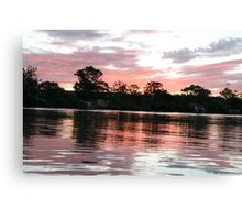 Sunset at Purnong,S.A. Canvas Print