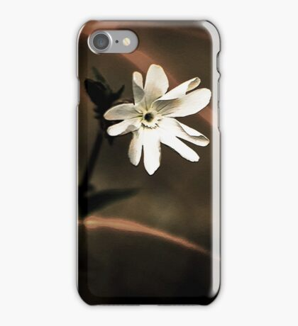 Evening White Wildflower Art iPhone Case/Skin