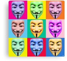 GUY FAWKES PROTEST Canvas Print