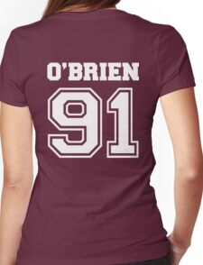 O' brien 91 dylan O'brien stilinski - white Womens Fitted T-Shirt