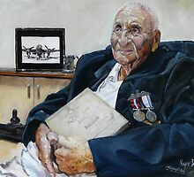 ANZAC Portrait Series - Fred Mills by Wayne Dowsent