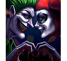 Harley Quinn And Joker couple Love by Tehsusu