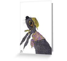 HARE IN A BONNET Greeting Card